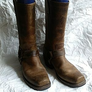 Frye Harness Boots Brown 8.5